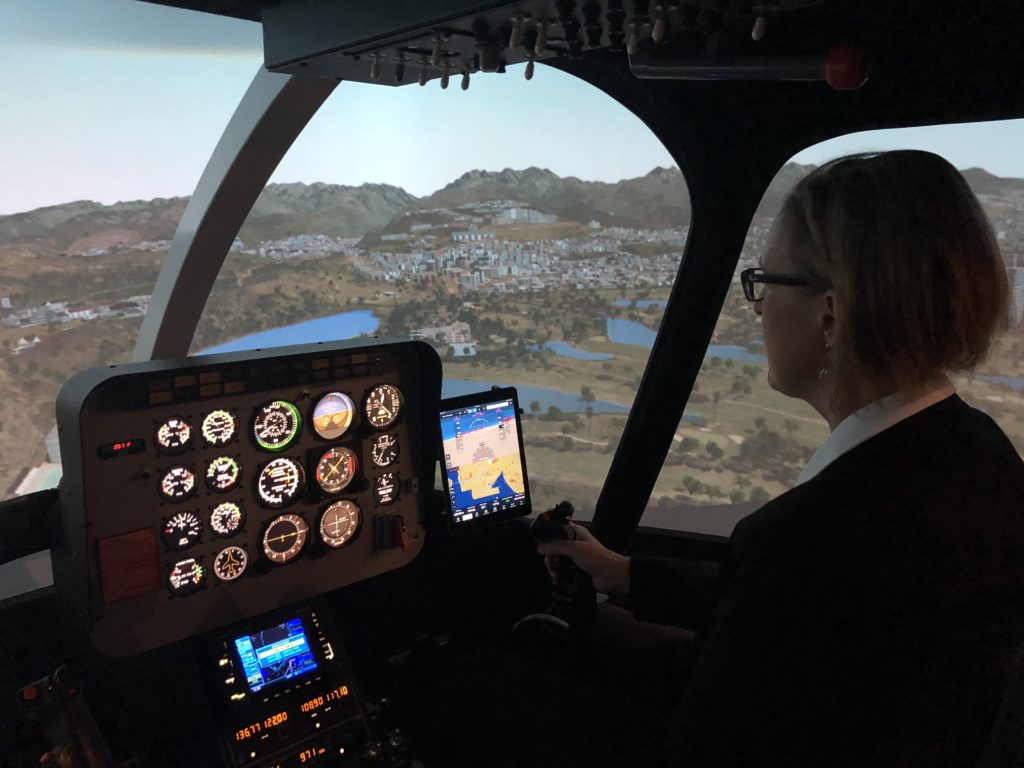 The new simulator will offer a more cost-effective and safe way to train helicopter pilots and allow students to achieve credits in the simulator, rather than the real aircraft. Ryan Aerospace Photo