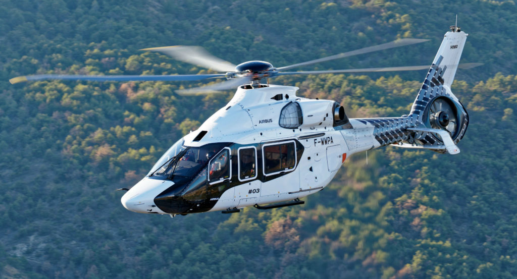 PT3 of the Airbus H160 joined the flight test program on Oct. 13, 2017. Across the three prototypes, the program has now recorded over 650 flight hours. Airbus Helicopters Photo
