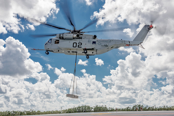 The rugged CH-53K is designed to ensure reliability, low maintenance, high availability and enhanced survivability in the most austere and remote forward operating bases. Lockheed Martin Photo