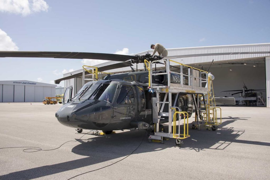Compared to the older S-70A, Sikorsky cites significant improvements in the S-70i in mean times between mission abort, mission affecting failure, essential maintenance action, and scheduled maintenance action. Sikorsky Photo