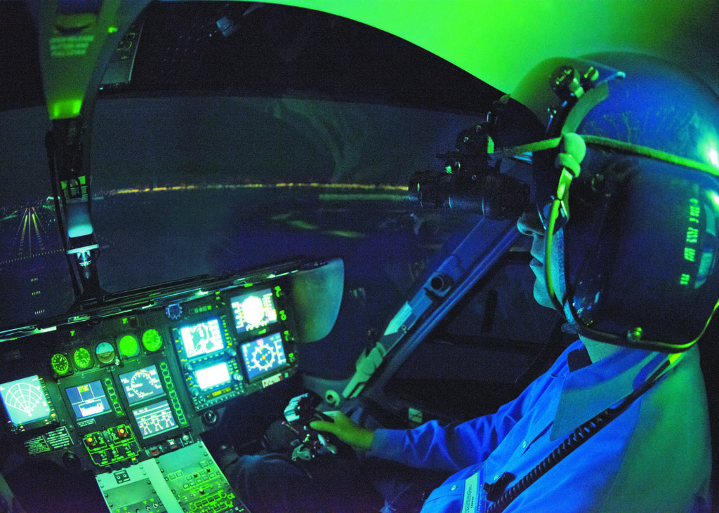 FlightSafety now offers NVG training in Airbus, Bell, and Sikorsky simulators at four of its learning centers. FlightSafety Photo