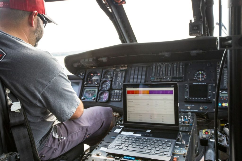 Pilots can use HMX through a mobile app or computer, either on the floor or in the cockpit. Flightdocs Photo