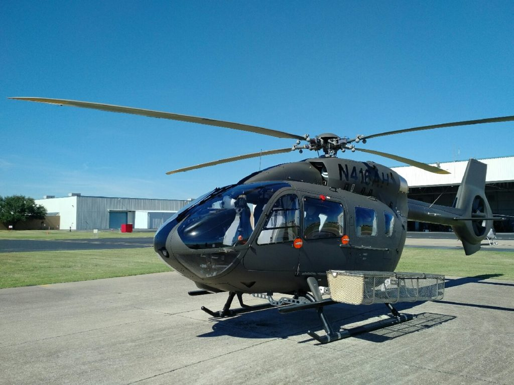 San Diego Gas & Electric is the first customer to receive the DART/AHI Quick Release Heli-Utility-Basket for the H145. DART Aerospace Photo