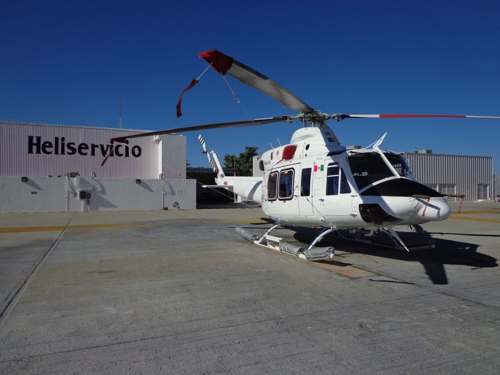 Heliservicio operates a fleet of 22 Bell 412 EP and 429 intermediate helicopters. Heliservicio Photo