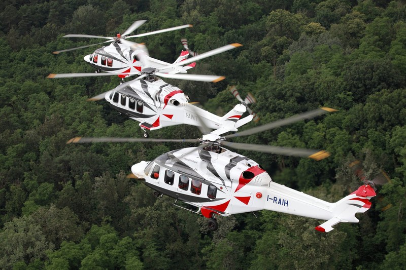 Leonardo's AW169, AW139, and AW189 have been key in growing the OEM's share of the civil helicopter market. Leonardo Photo