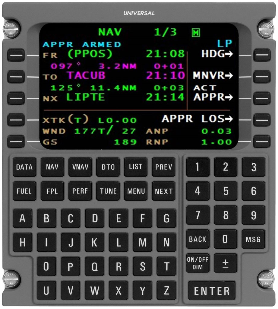The new flight management system allows operators to take advantage of localizer performance level of service approaches. Universal Avionics Image