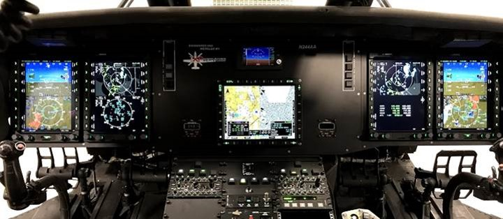 The IDU-680 displays offer high-resolution LCD glass depicting 3D synthetic vision, among other features. Genesys Aerosystems Photo