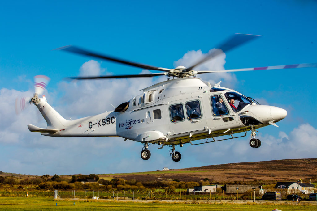 Island Helicopters' AW169 to be used for this service is brand new, straight off the production line. Greg Cagewith Photo