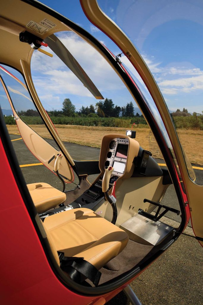 The cockpit may be small, but it's incredibly clean-looking. The Gelbs reserved praise for the Cabri's modern avionics. Heath Moffatt Photo