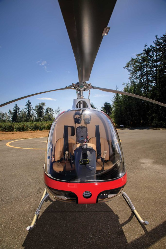 A Cabri sits outside the company's hangar in Abbotsford, British Columbia. Heath Moffatt Photo