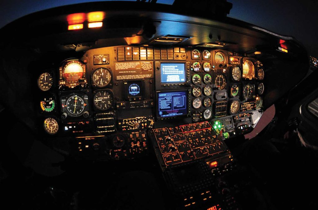 Helicopters with analog avionics are losing value faster than those with glass cockpits. Skip Robinson Photo