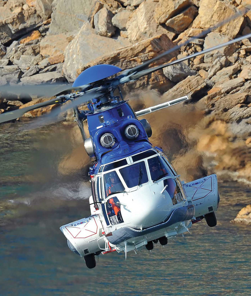 Utility operators are adding EC225s and Super Pumas to their fleets. Anthony Pecchi Photo