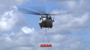Prior to the 36,000-pound lift, the CH-53K lifted various external payloads up to 27,000 pounds.