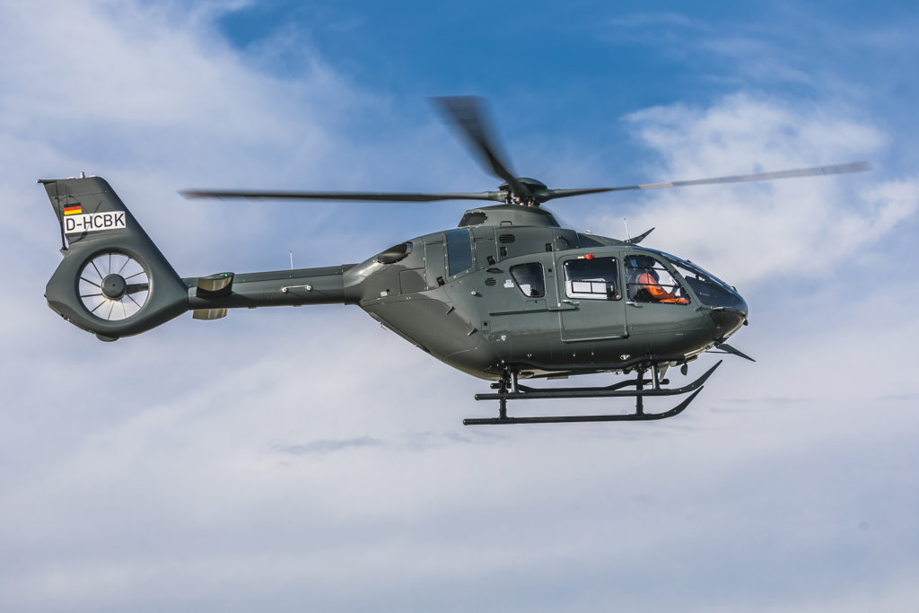 Milestone was able to provide four new H135s fully compliant with the German Army's specifications.