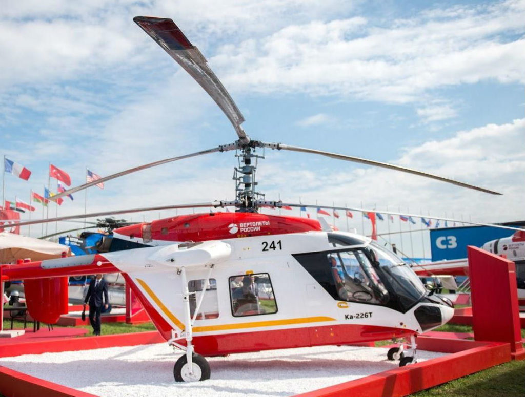 The Ka-226T light, multi-purpose helicopter features two turbo shaft 580-horsepower engines and full electronic control. Rostec Photo