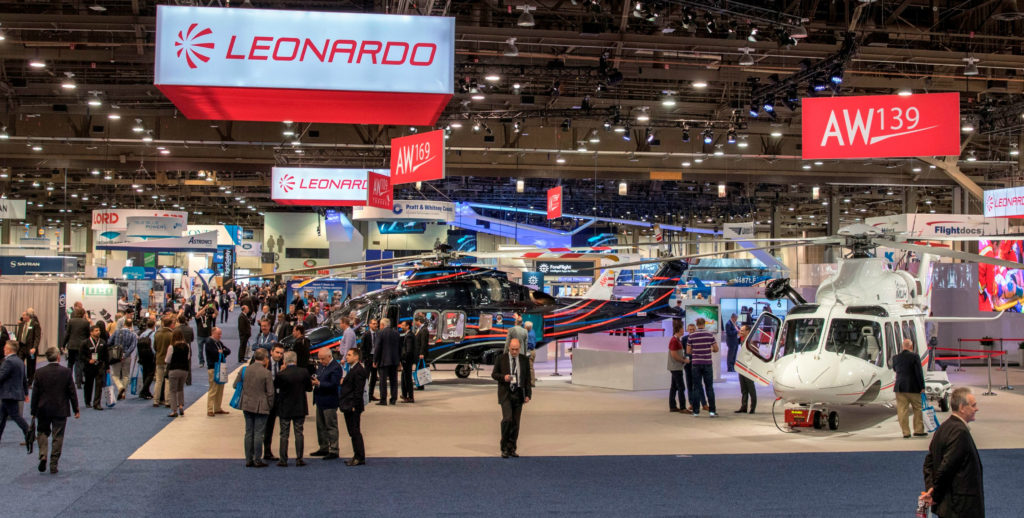 The contracts signed with Leonardo at Heli-Expo, valued at almost $170 million, include a mix of AW119Kx, AW109 GrandNew, AW109 Trekker, AW169, AW139 and AW189 helicopters. Leonardo Helicopters Photo