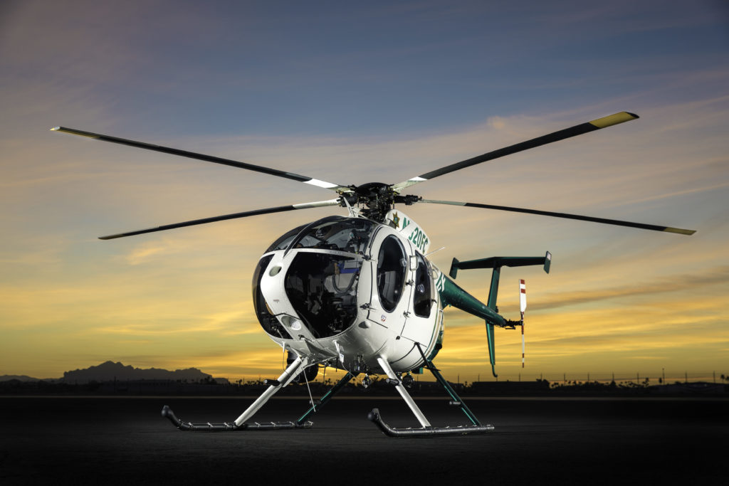 The Fresno County Sheriff's Office Air Support Unit has flown more than 30,000 hours to perform search-and-rescue missions, pursuit, and aerial surveillance in support of ground operations. MD Helicopters Photo