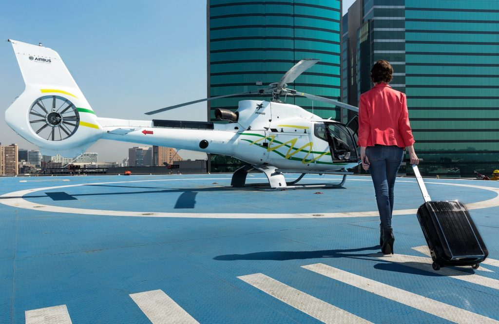 Riders can book and take off in as little as 60 minutes, and only need to arrive at the helipad 15 minutes before boarding time. Airbus Helicopters Photo