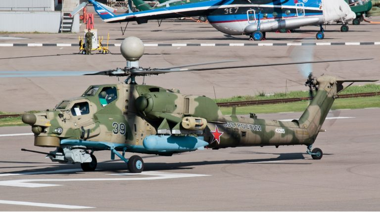 MI-28UB's main feature is the double operation system, designed to operate a machine from both commanding pilot cockpit and operating pilot cockpit.
