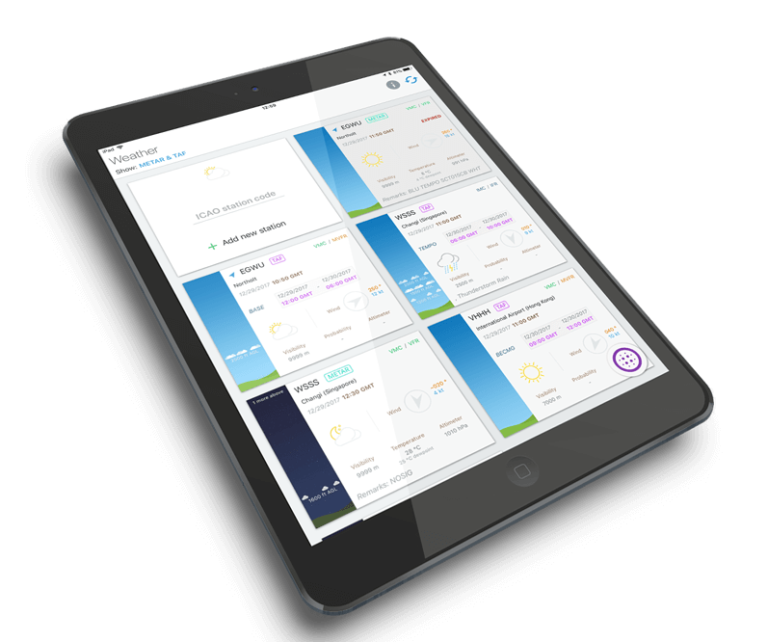 Pilot Assist Pro allows pilots to access numerous important flight resources all in one app, including weather data, checklists, flight logs and more. Jet Express Photo