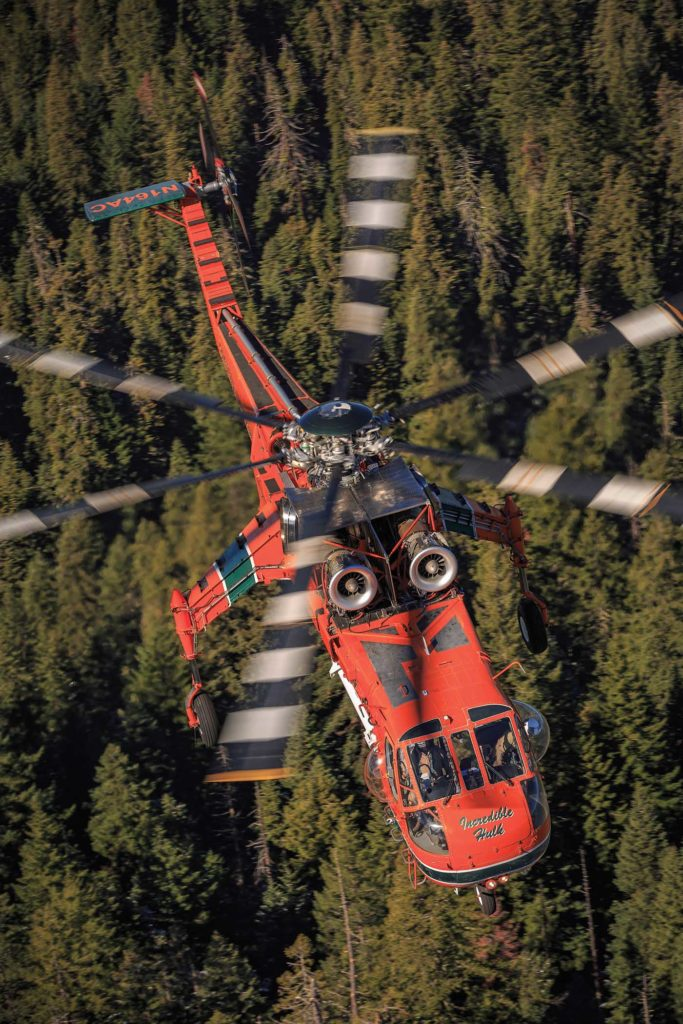Erickson has 20 S-64s in its fleet, with the aircraft performing various heavy-lift jobs - from firefighting to aerial construction - around the world. Heath Moffatt Photo