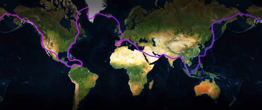 The EPIC Tour will travel to more than 40 countries, covering 18,600 miles in roughly 84 days. BC Helicopters Image