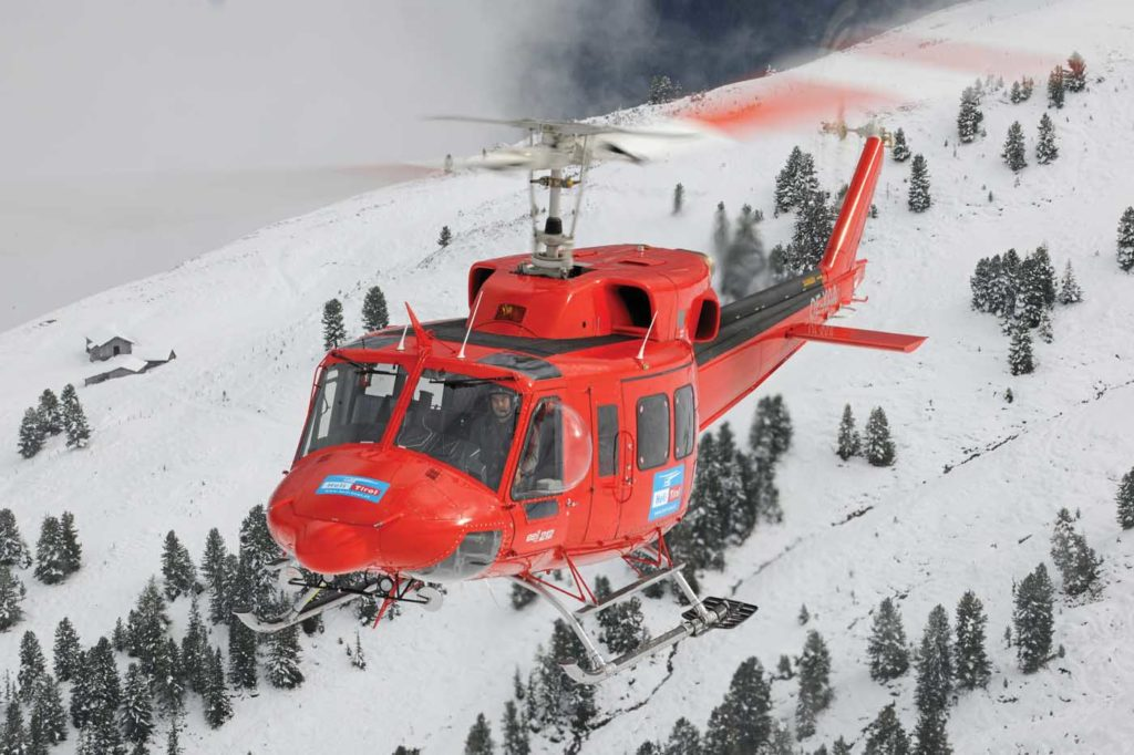The company's medium-lift capabilities are provided by two Bell 212HPs and four Bell 412s. Anthony Pecchi Photo