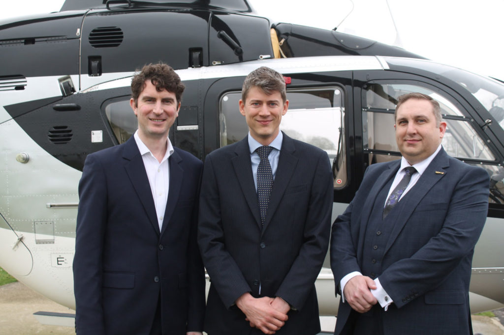 From left: FLYT's director and chief finance officer, James Matthews; CEO and co-founder, Andy King; and co-founder and aviation director, James Palmer. Ian Frain Photo