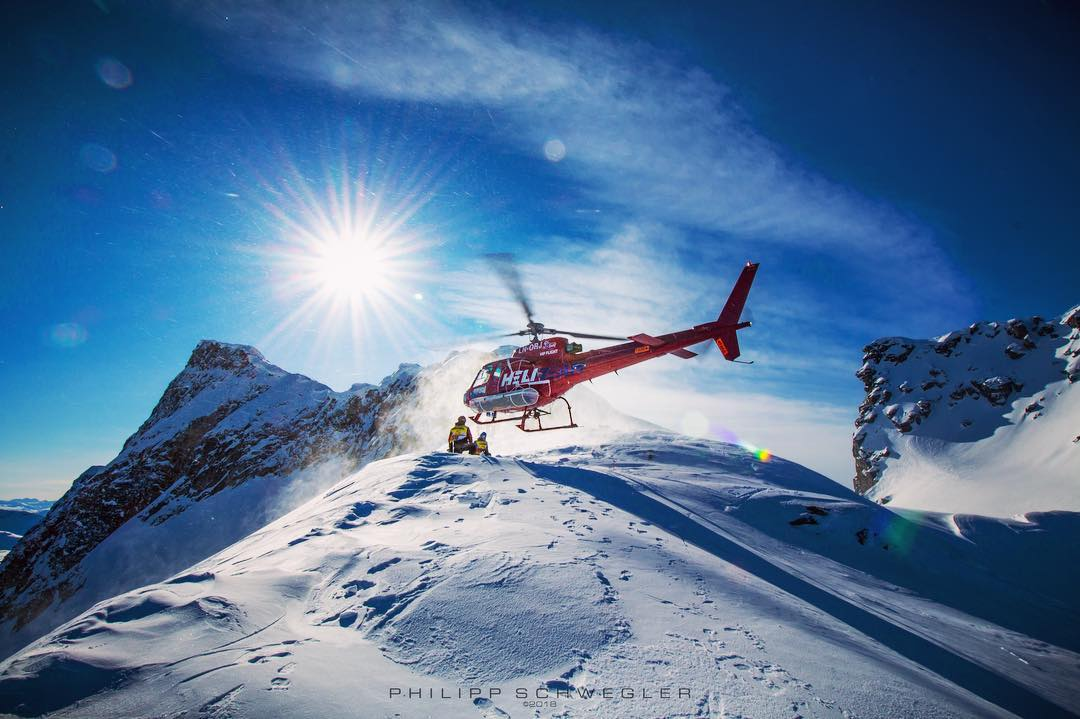 An Airbus AS350 operated by Heli-Team AS explores mountains in Norway. Photo submitted by Philipp Schwegler (Instagram user @philipp_schwegler)