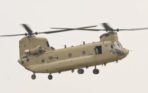 Boeing will feature the H-47 Chinook during ILA Berlin and provide information on the company's unique expertise in performance-based logistics, ensuring the aircraft is ready to fly when needed. Boeing Photo