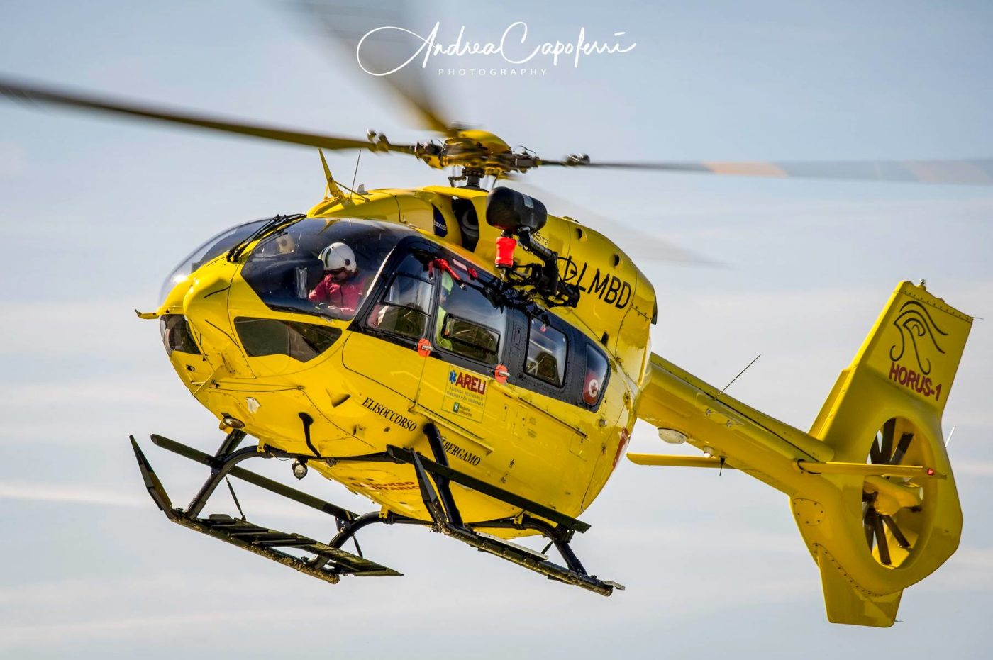 An Airbus H145 operating on a rescue mission in northern Italy. Photo submitted by Andrea Capoferri