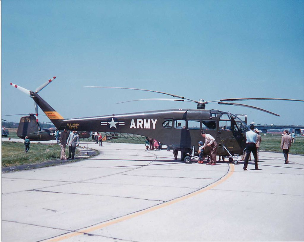 The first Doman LZ-5 for the U.S. Army on display at an air show. Jeff Evans Collection Photo
