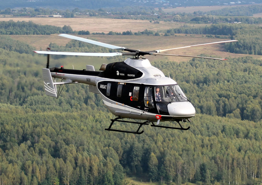 Chinese specialists spent 10 days to acquaint themselves with the helicopter production facility and perform Ansat test flights.