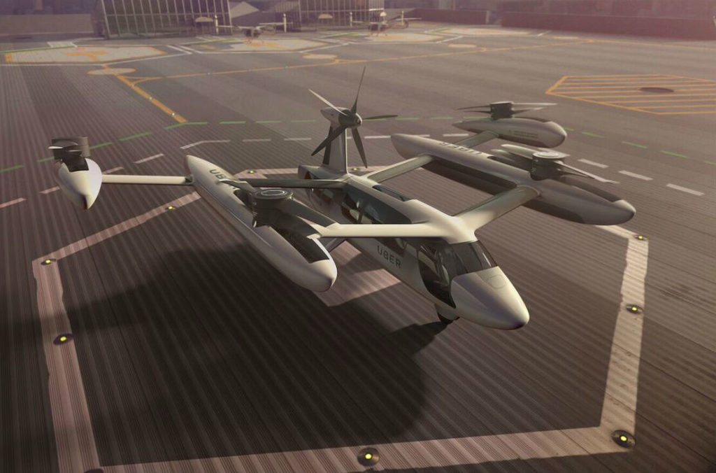 Here's what Uber wants its flying taxis to look like