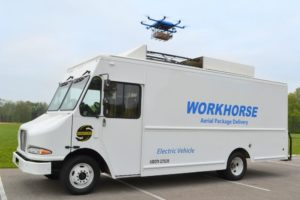 The Horsefly drone launched from the top of a truck. Workhorse Photo
