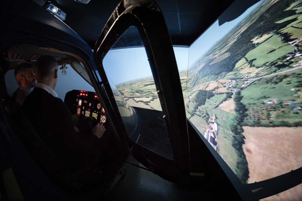 The company purchased Bristow Academy's site in Gloucester in 2016, relocating an AW109E simulator there from Castle Air's Liskeard headquarters. Lloyd Horgan Photo