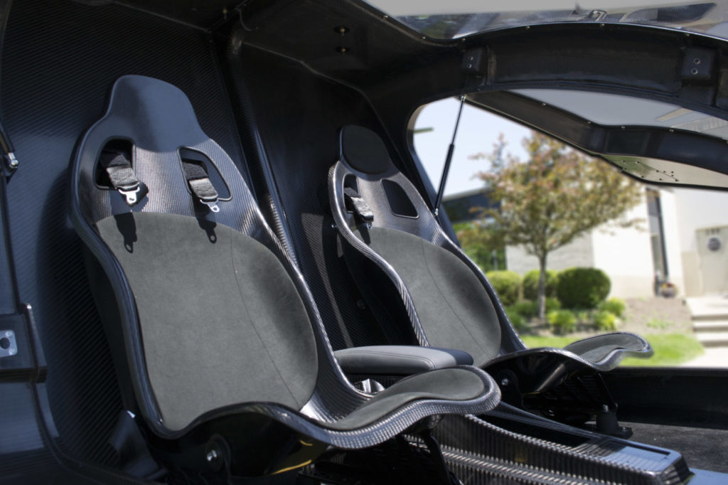 The SureFly features a compact two-seat carbon fiber cabin, which has been refined since its unveiling last year. Workhorse Photo