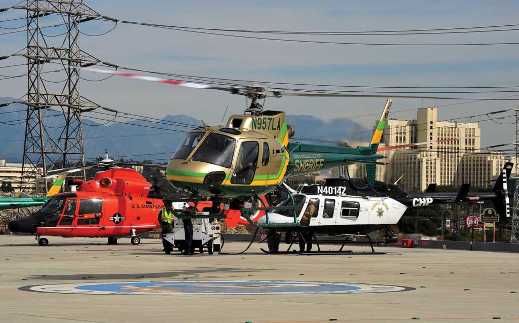 The LAPD's Hooper Heliport is the site of regular fly-ins. Early in their professional relationship, the authors clashed over the best way to coordinate one such event. Skip Robinson Photo