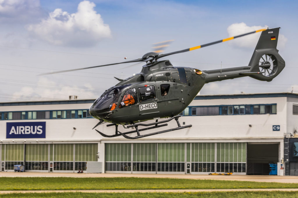 The five H135s join 14 others from the H135 family, which have been in service for training at the Bundeswehr since 2000.