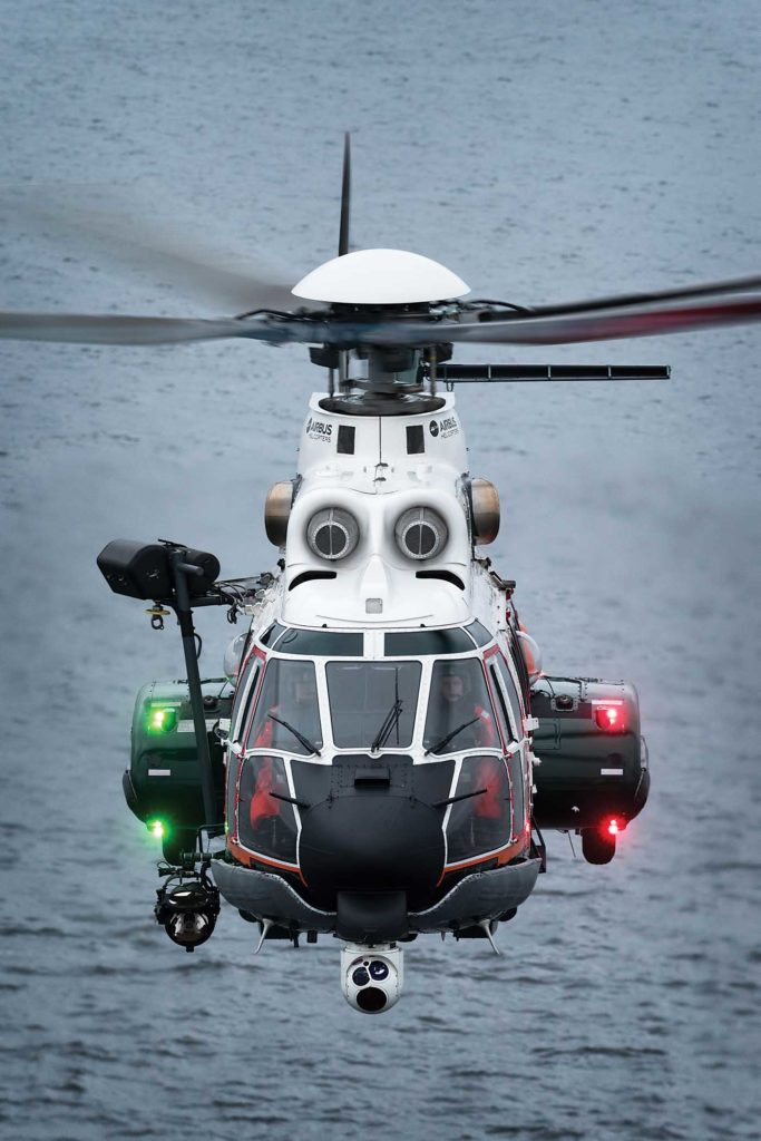 The Air Patrol Squadron's H125 helicopters come fitted with the L-3 Wescam MX-15 HDi multi-mode camera and Boeing Spectrolab Nightsun SX-16 searchlight. Lloyd Horgan Photo