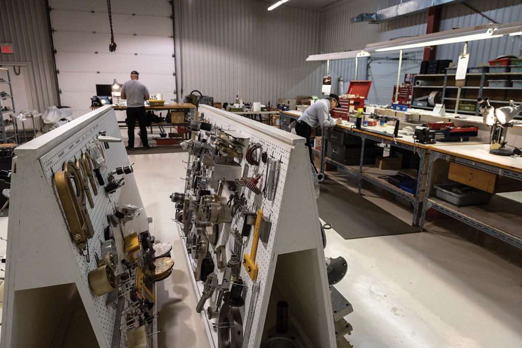 Helitrades is one of two companies in North America that has a Woodward HRT-approved facility. Its Vankleek Hill location has all the right tools to perform overhauls on HRT hydraulic components, which are featured in numerous Bell aircraft. Peter Handley Photo