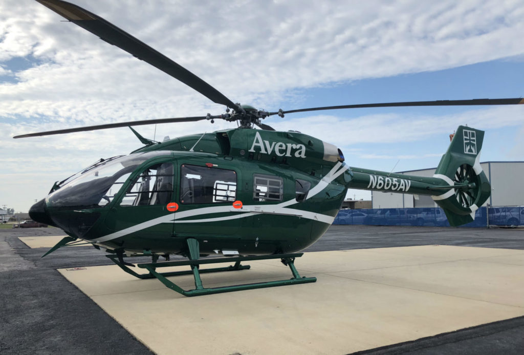 This delivery has provided Avera Careflight with its first ever H145 helicopter. Metro Aviation Photo