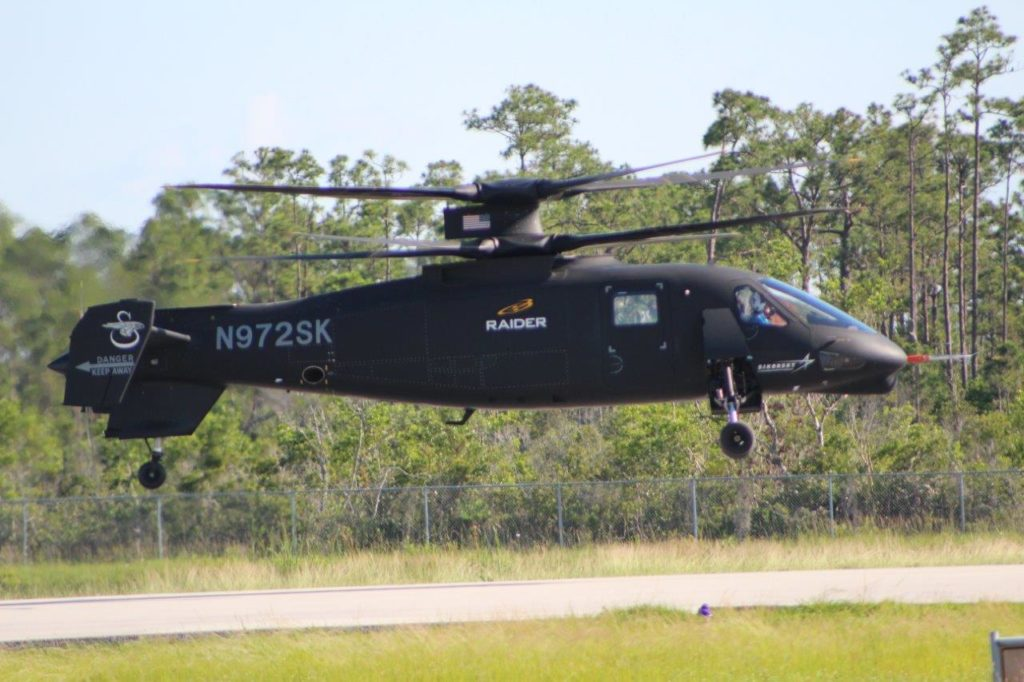 Sikorsky resumed the flight test program of the S-97 Raider on June 19, 2018. Sikorsky Photo