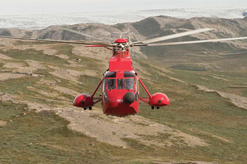 During the summer months, Air Greenland uses one of its S-61Ns for charter work, while the other is used for both charter and SAR. Neil Dunridge Photo