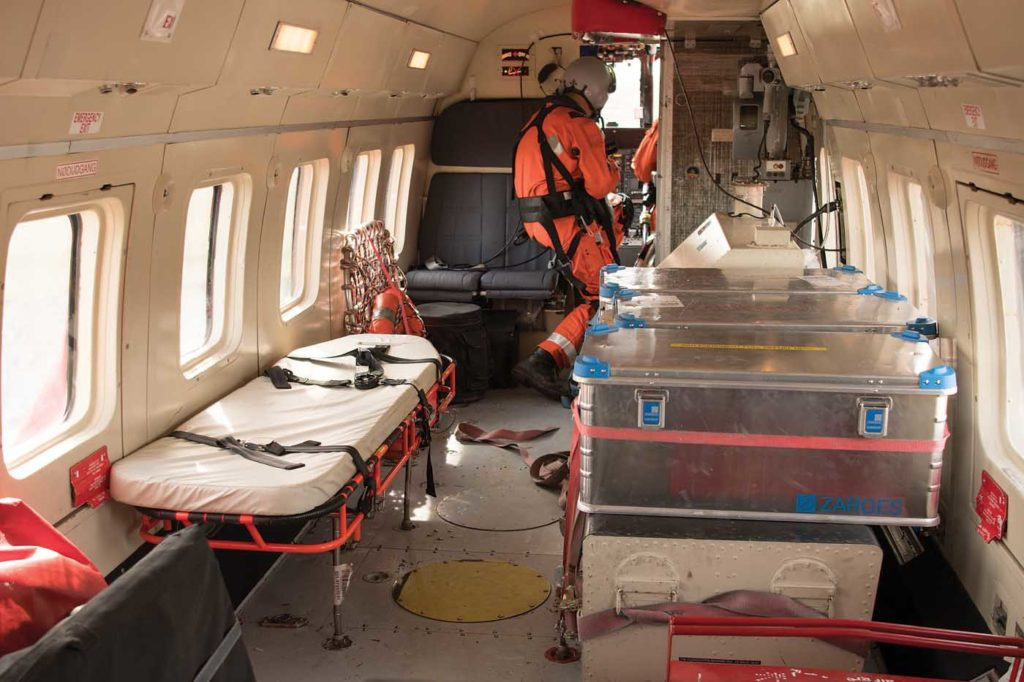 Nurses or doctors may accompany the SAR crews in order to provide more sophisticated medical care to patients. Neil Dunridge Photo