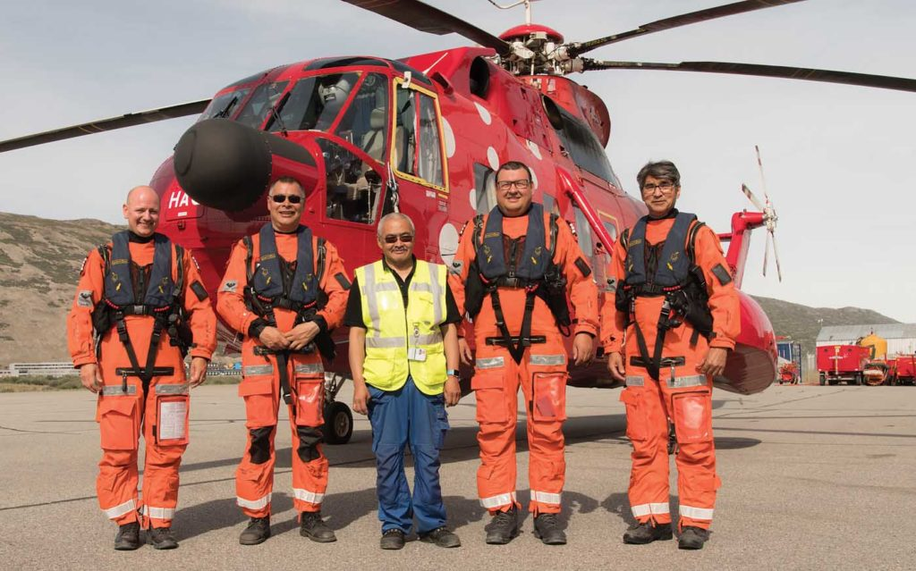 Air Greenland operates with nine SAR pilots, nine hoist operators and three hoist assistants. Neil Dunridge Photo