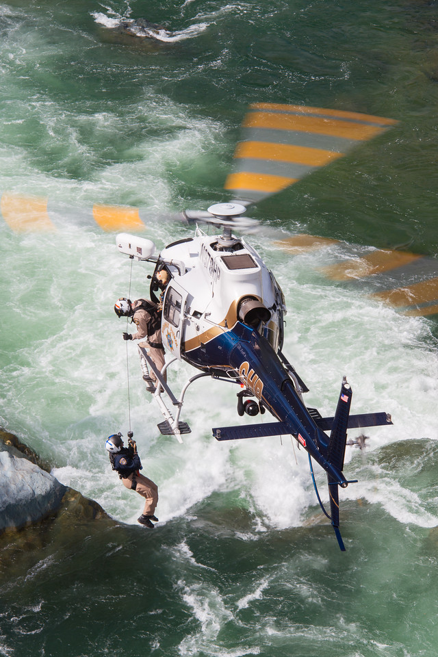 As the California Highway Patrol transitions its fleet to the Airbus H125, the organization is also adopting new hoist techniques for improved safety and efficiency. Dan Megna Photo
