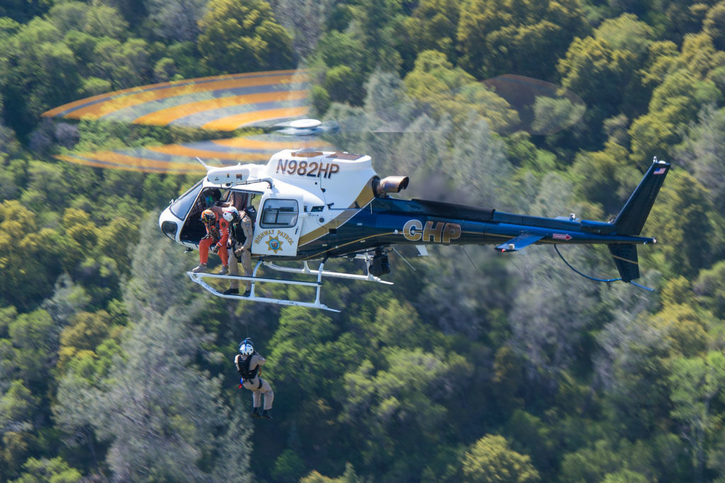 While the CHP crews maintain currency in conducting human external load missions, the Goodrich hoists installed aboard the new H125s are providing improved hoisting capabilities over the hoists installed on their legacy fleet of AS350 B3s. Dan Megna Photo