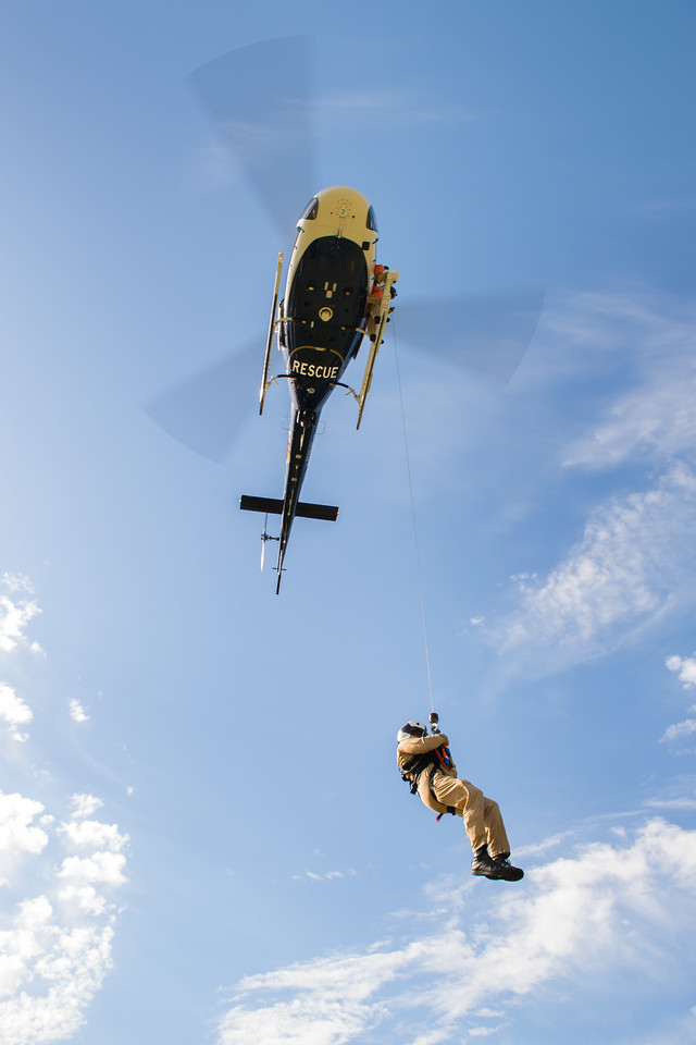 While the CHP's AStars are capable rescue platforms, they do have some limitations, one of which is a maximum allowable weight on the hoist of only 450 pounds (205 kilograms). Dan Megna Photo