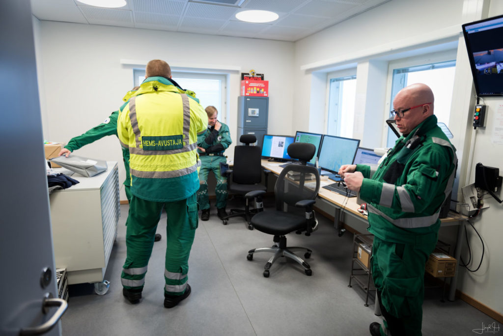 The crews' briefing room at the Rovaniemi base. Lloyd Horgan Photo